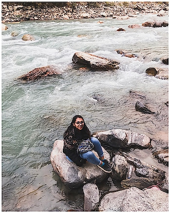By the River Piedra 📚  . #kasol #musafirchannel