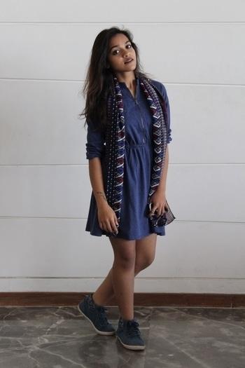 #denim #denim-love #leecooper #ahmedabadfashionblogger #scarfmakesthedifference #bold #styling
