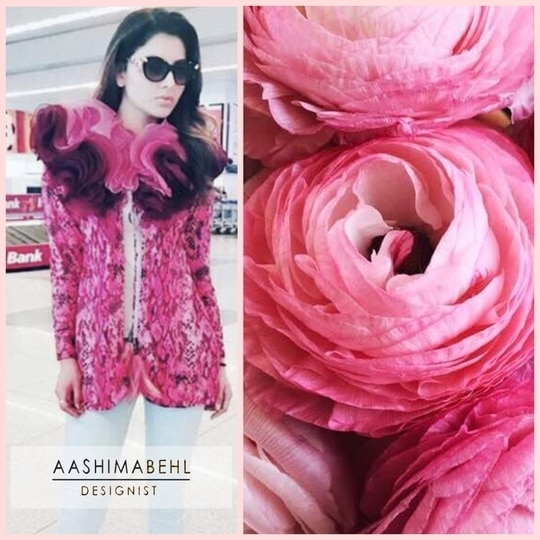 This is how inspiration turns into beautiful ensembles at Aashima Behl Atelier.  Actress @urvashirautelaforever Stuns in our Statement Rose Layered Jacket 😍 Call or Whatsapp us on : 9711111776 for price enquiries.  . . . #aashimabehllabel #designist #inspirationstyle #rose #inspirationintoaction #aashimabehl #atelier #urvashirautela #slaying #in #our #ensemble #prettyrose #callusfordetails #shopnow #grabitnow