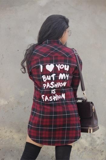 Always believe in yourself !  ⭐️ . . . #shirtdress #trendingfashion #forever21 #bloggerfashion #lucknowblogger #blogging #personalstyleblogger #gorgeousandgusty #gauripandey #roposogal #roposopic