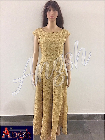 #party #gown #net #embroidery #fancy #shine #designer #trending #angsh #jaipur #stylish #boatneck #umbrella  Dm to order😊