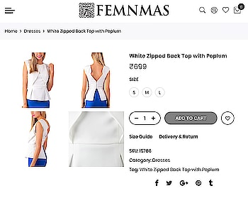 White Zipped Peplum Top By FemNmas Rs 699/- Shop Now - https://goo.gl/vyM9jP ———————————— #peplumtop #dress #dresses #dressforsale #whitetop #femnmas #whitezippedtop #dressindia #westernwearonline #westerwearindia