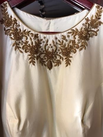 Details.  #eternallibaas #designerlabel #zardosi #handwork #zardosiwork #golden #details