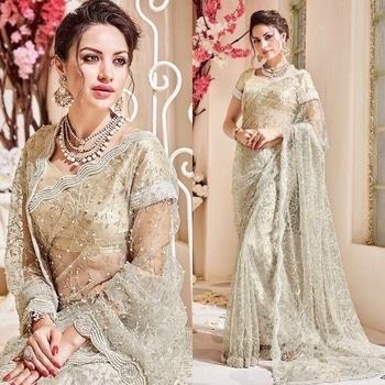 Cream Sparkle Net Saree Product Code - FCS865 Available at www.fashionclozet.com  Watsapp - +91 9930777376 Email -  info@fashionclozet.com Or DM for enquiries #salwarkameez #golden #designerlehenga #satinsaree #patialasuit #redlehenga #bridalhenna #saree #navratri #navratri2017 #bridalwear #sharara #palazzosuit #bridalheadpiece #bollywood #sarees #bollywoodsaree #dulhan #lehenga #sari #bridallengha #indianfashion #lehenga #drashtidhami #punjabibride #indianbridal #designersaree #punjabiwedding #pakistaniwedding #sikhwedding