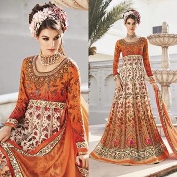 Enchanting Orange Partywear Crepe Anarkali Suit  Product Code - FCSS842 Available at www.fashionclozet.com  Watsapp - +91 9930777376 Email -  info@fashionclozet.com Or DM for enquiries.  #bridetobe #bridetips #fashionclozet #bride #bridalfashion #weddingtrends #fashion #weddingplanning #weddingreception #weddinglook #weddinglove #bridalhairstyle #bridalhairstylist #hairstylist #celebrityhairstylist #mua #bridalmua #celebritymua #brideandgroom #dulhan #dulhanfashion #nikah #anandkaraj #dreamcometrue #weddingphotography #fashionista #capedress #indianbride