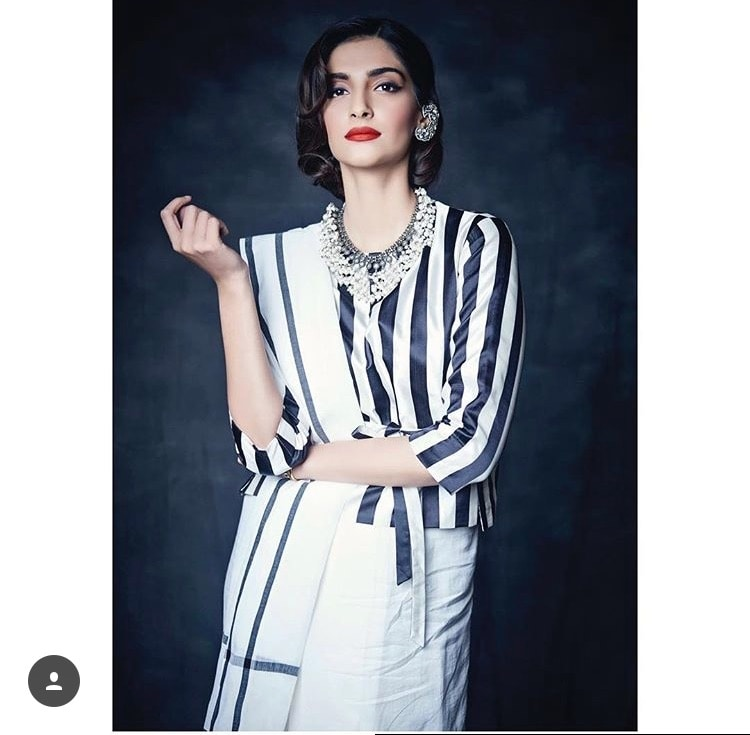 From a celebrity to an ultimate fashion diva, @sonamkapoor is one of the most sought after Bollywood celebrities.  Apart from her acting prowess, the vivacious actress is known for her inimitable fashion sense. She is fearless and her love for experimentation is evident in her outfits. My Inspiration 💯 @rock_n_shop #soundarya_thefdrug #soundaryagrover #sonamkapoor #rocknshop #thevisionaries #bollywood #model #fashion #stylist #inspiration #love #rocknshop #thevisionaries