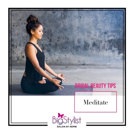 An effective way to reduce stress and take some me time out is by meditating for at least 15 minutes a day. You will definitely feel calmer. #beautytips #bridalbeautytips #bridestobe #meditate #relax #calm #prewedding #tips #metime #rejuvenate #beauty #stayhomebeautiful #BigStylist