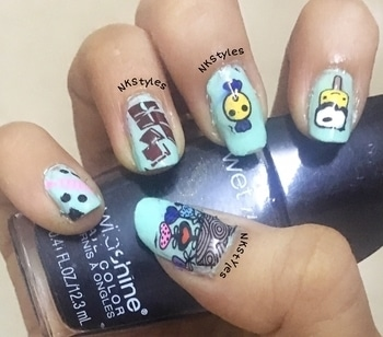 Candy nails 😍💅🏼🍭🍬 #GoodMorning #candynails #candynailart #indianyoutuber #nkstyles #nailswag