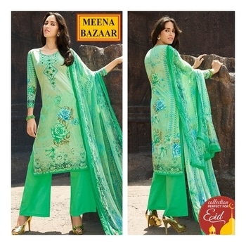 Strut in the path of timeless glamour with this spectacular suit from #MeenaBazaar. Click here to shop: http://www.meenabazaar.com/suit-sets/shades-of-summer.html  #FestiveEssentials #eidcollection #officialwear #officialkurti #casualwear #indianwear #ethnicwear #ethnicday #occasionwear #designerwear #ootd #delhi #FashionDairies #2017fashiontrends #StreetStyle #Stylish #lookbook #fashionblogger #fashionweek #fashionista #indianfashionblogger #couturefashionweek #couture #hautecouture #style #inspiration #fashioninspiration