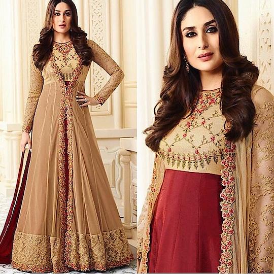 Kareena Kapoor Khan Coat Style Brown Anarkali Suit Product code - FCSS1267 Available at www.fashionclozet.com  Watsapp - +91 9930777376 Email -  info@fashionclozet.com Or DM for enquiries. #kareenakapoorkhan #indianfashion #indianwedding #kareenakapoor #adorable #beautiful #bollywood #palazzo #mumbai #palazzosuits #desi #punjabisuits #indowestern #bridalsarees #designersaree #designerwear #saree #punjabiweddings  ##gottapatti #blogger #fashionblogger #embroidery #dressmaterial #weddingphotographer #indianweddingbuzz #bridallehengas  #bridesmaids  #saree #sari
