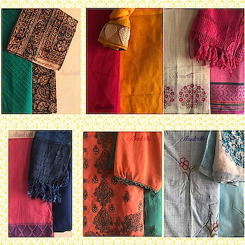 Alankrith's Exclusive Embroidered Salwar Suit Materials. #alankrith #womensfashion #clothing #fashion