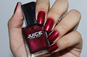 Loving this absolutely gorgeous shade 😍🔥💅🏻from @juicecosmetics   ➡️➡️No.- 96    ➡️Two coats and perfectly opaque ❤️   ➡️➡️I did the veil nail art using this  nail polish .. It spreads quickly 💅🏻💅🏻. ➡️➡️➡️➡️Btw have you watched my recent videos on youtube yet ???    ➡️➡️If not then click the link in my bio to watch 🔜. ➡️➡️ And I'm so close to 300 subscribers so plz subscribe if you haven't already ❤️🤗   ➡️➡️➡️And a simple yet pretty nail art tutorial is coming soon on my channel because you guys voted for it in my ig story polls ... 😁  ➡️➡️ Ok so did you like this shade ?? 🤔😍. ➡️➡️➡️ #swatch #nailpolish #indianyoutuber #nailart #enaildiaries #ahmedabadi