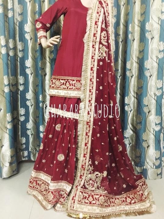 Bridal Gharara in silk with zardozi handwork embroidery all over Gharara, Dupatta and Kurti.  👉WhatsApp at +919971865919 to order 👉Deliver worldwide   #Gharara #ghararastudio #ghararastudiobyshazia #ghararadesign #ghararah #ghararafashion #ghararalove #ghararadesign #bridal #bride #wedding #weddingdress #weddings #nikah #fashion #fashionblogger #fashionstylist #fashiongram #fashionblog #blog #indianfashionblogger #indianfashion #indianstylist #indiandress #indiantradition #instafashion #buyghararaonline