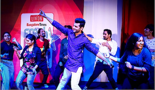 Judging is never complete with out dancing on stage  with the contestants 😁😊 #rahulrajasekharan  Designer - @theluxelabel.in   #timesfreshface