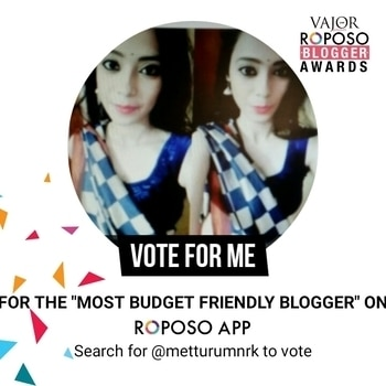 #vote #blogger #budgetfriendlyblogger  #voteme #vajorawards #roposo