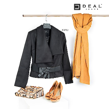Bring that winter look with a bit of formal touch! #DealJeans