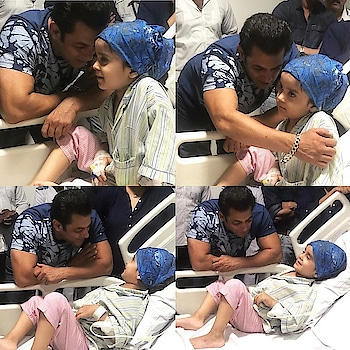 Salman Khan fulfilled the biggest wish of little Janganbeer, who is battling with Cancer at the Tata Memorial Hospital, ever since Jagan came from #Ludhiana, all he talked about was meeting Salman Khan!  He is a three year old child fighting blood cancer.  Salman Khan came to the hospital & spent an entire hour talking to him, laughing with him & singing songs with him. #salmankhan  #beinghuman  #humanity  #inspiration #dailypost #followmeonroposo