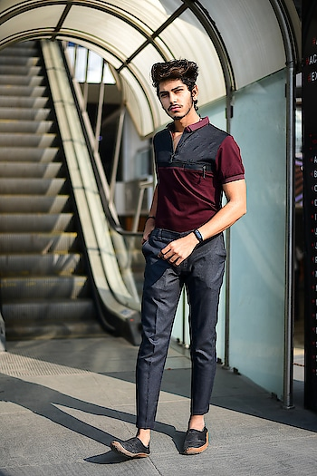 FAILURE WILL NEVER OVERTAKE ME, IF MY DETERMINATION TO SUCCEED IS STRONG ENOUGH. . . OUTFIT NO - 2 VIA. LOOKBOOK . . Outfit details -  DARK GREY FORMAL PANT,  MAROON COLOURED COLLARED T-SHIRT,  And BLACK LOAFERS. . . . Shot by - @jvfilms_ . .  #lookbook #ootd #thestyledweller #combination #menstyling  #styling #fashion #maroon #grey #gentleman #trendy #fashionblogger #fashioninfluencer  #influencer  #indianfashionblogger  #maleblogger #malemodel #indianmodel #suratinfluencer #outfitoftheday #mensfashion #lovemywork