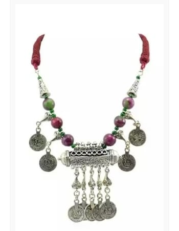 #banjara #tribaljewelry #Tribal #ethnic # acrylic #beads #threadwork #Braided #coin #Handmade #GermanSilver #Handmade #pandents #silver #maroon #dhokra  #coinnecklace #longnecklace #neckpiece at  http://fabstreet.in/products/fabstreet-banjara-tribal-coin-pandent-thread-necklace