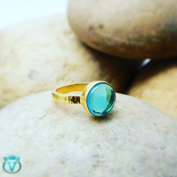 Blue Topaz Crystal Gemstone Ring with 22K Yellow Gold Plating #Rs702 COD Available in India  For more information visit : www.thevcollection.in  #jewelry #fashion #beautifuljewelry #earrings #jaipur #usa #uk #australia #newyork #canada #instagood #fashion #beautifuljewelry #semiprecious #gemstone #bangalore #delhi #rings