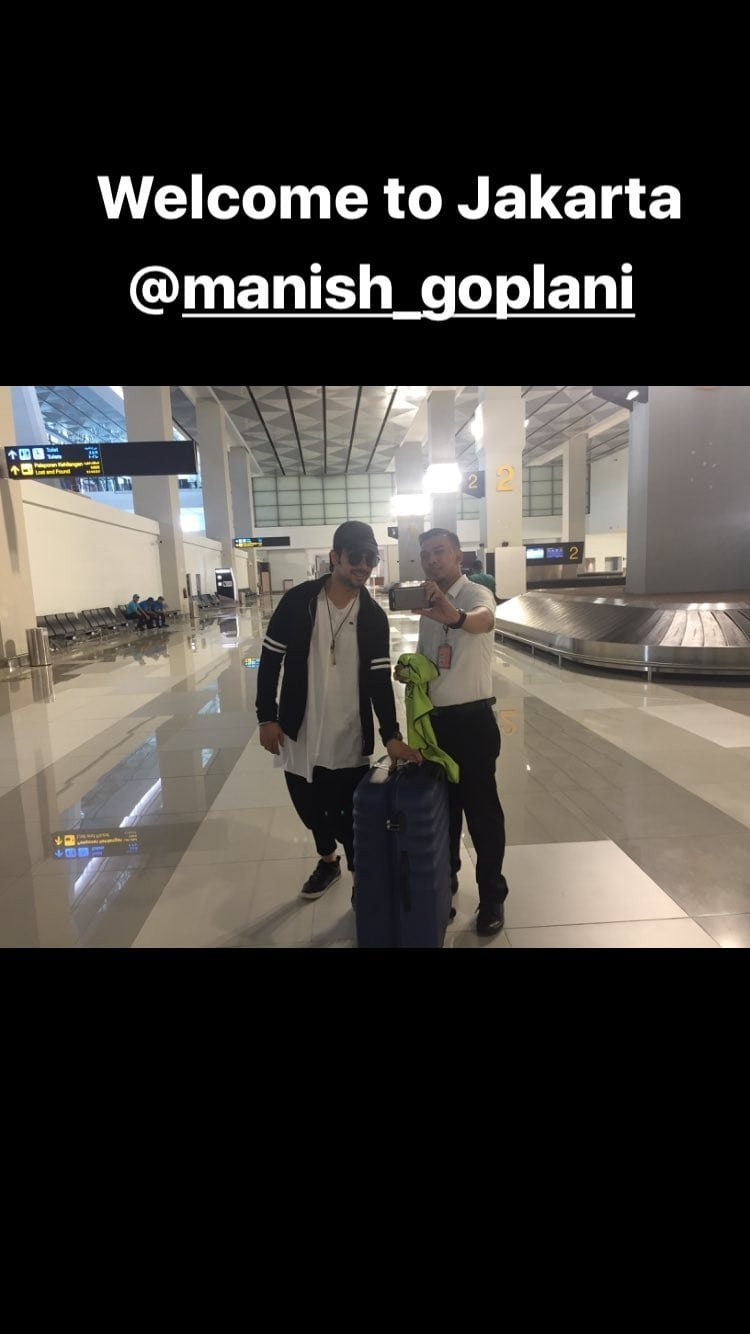 welcome to our country.. welcome to Jakarta sir @manishgoplani9 ❤❤😙😙