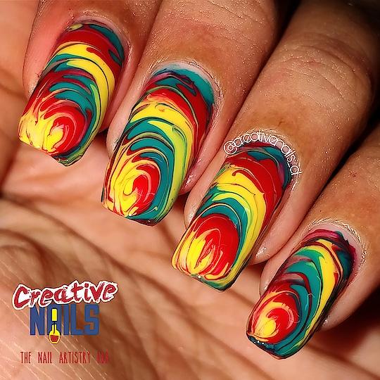 Drag Marble Nail Art! #creativenails #creativenails_beautyprooducts #nailart #roposo #roposofashionista #roposo-makeupandfashiondiaries #roposo-fashiondiaries #dragmarblenailart #dragmarble #dragmarblenails