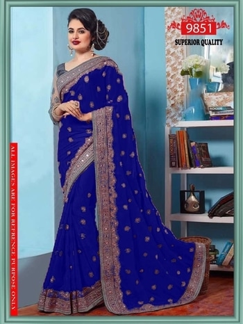 Designer saree available in good quality at svfashion  For more information call or WhatsApp me 9228855494 #designersaree