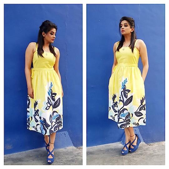 Dress by @h&m ..styled by #meheknavinshetty!! #dhee10 #etv
