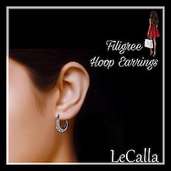 "Sterling Silver Filigree Hoop Earrings, Shop now from ""amazon.com"": https://goo.gl/5VYejt  #LeCalla #ShopNow #AmazonUSA #SilverJewellery #amazonfashion #amazonjewelry #silver #christmasjewelry #jewellerytrend #eshopping #ootdjewellery #onlinefashion #jewellerydesign #earrings #fashionista #stylegram #fashion #shoplocal #usa #giftideas #roposo #roposojewels #instajewellery"