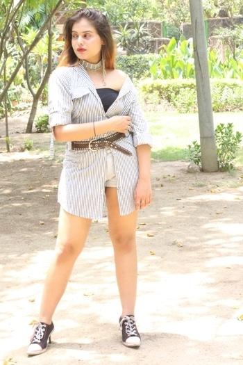 Shirt Dress @renge_india  Denim heels @venussteps . . . #shirtdress #simersethi #simersethixrenge #kashmiri #summerstyle #fashion #fashionblogger #fashiongram #instagood #instastyle #delhiblogger #bloggerstyle #blogger #ootd💗 #fblogger #photooftheday #likesforlikes #photography #denimheels #stylist #blogpost #blogging #delhi #beautyblogger #styleblogger #earcuff #chokar #shorts #belt Pc @escapeintodreams 😊
