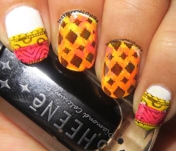 For this Africa Print Nail Design I have used XY-J04 stamping plate😌 Hope u like it 😃 #designyournailsbyisha #ishanailart #nailartswag #nailart #naildesigns #tribalnails #patternanails #nailfashion #nails #africastyle #manicure #nails #notd #nailporn #soroposo #indiannailartist #youtuber #roposonails #blogger #instanails #sgblogger #nailblogger #indianblogger
