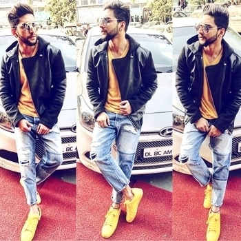 Dont chase✌🏻 get chosen💯 #girlfriend#denim#H&M#yellow#sneaker#UCB#cardigan#zara#black leather jacket##zara#