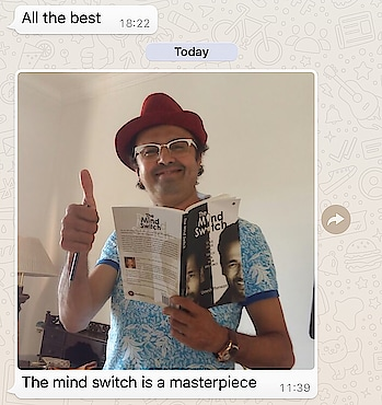 A positive thumbs up from Ace Music Director Nikhil Kamath for my book #themindswitch , have you got your copy? The promo discount valid on Amazon only till 21st of March after which it goes back to the original price. #booklover #author #umeshpherwani  #lifecoach #mindexpert #nlptrainer #subconsciousmind #power #frequency #vibrations order you copy now click on the link  The Mind Switch : A Quick Guide to Unleash Your Brilliance https://www.amazon.in/dp/1642493953/ref=cm_sw_r_cp_api_i_1xJRAb5551R0Q
