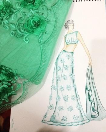 Fashion Illustration...  #fashionsketch #neetya