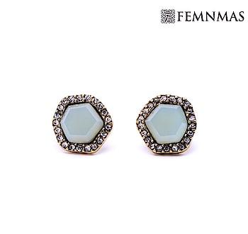 Simple Gemstone Studs By FemNmas (Earn ₹5 Rewards Points) Shop Now - https://goo.gl/MvyWpT —————————— #fashionstudsindia #designerstuds #earringstudsindia #earringstuds #simplestuds #simplestudsindia #westernjewelleryindia #fashionjewelleryindia #imitationjewelleryindia #sale #saleindia