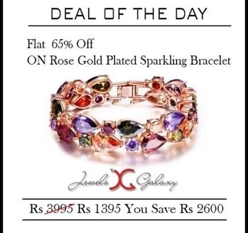 🎁🎉  Deal of The Day  🎁🎉   Swiss Cubic Zirconia 24K Rose Gold Plated Sparkling Bracelets Flat 65% off discount Buy Now- 1395₹  #bracelets #sydney #australia #america #canada#california #kuwait #dubai #london#england #italy #sikhwedding #bride#fashion #happy #jewellery #kundan#lehnga #love#newyork #NYC #punjabi#toronto #traditional #uk #us #usa #viah#sikhwedding #newjersey