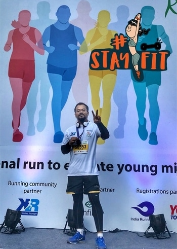 Bhoomi Marathon 10k completion 😊 #stayfit