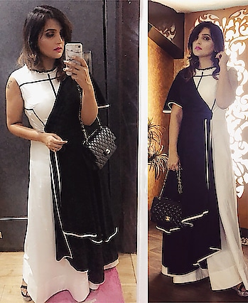 My yesterday's look!!! . Thank you all for the wishes!!! . #styleblogger #gown #blackandwhite #westerndress #indianfashionblogger #indianblogger #delhiinfluencer @indiainfluencers #indianinfluencer