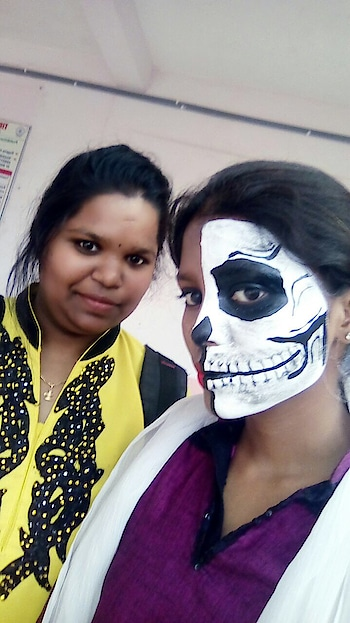 #discovering_ur_self#myart#facepainting  tq Manisha for ur face