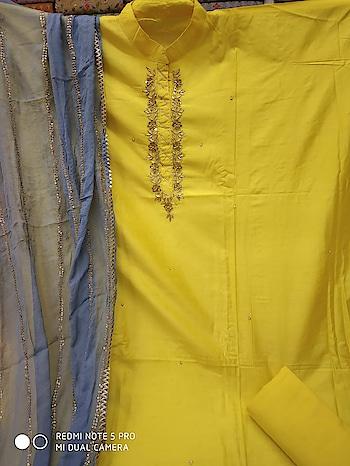 *Top* Pure muslin handwork  *Bottom* cotton  *Dupatta* Silk fancy  *Rate*1845/-