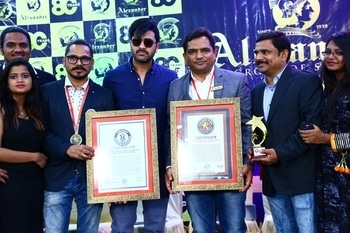 80th Anniversary Celebrations of Alexander Group Of Salons. We are honored and privileged to receive Bharath World Record and Golden Star Award. :) #haircare #haircut #hairstyle #hairspa #beauty #makeover #makeup #bridalmakeup #mensalon #womensalon #unisexalon #hairstyling #oldestsaloninhyderabad  #topsaloninhyderabad