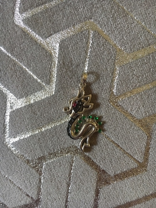 Xiǎolóng The dragon pendant concept is meant to be a symbol to good fortune and strength in keeping with Chinese tradition.  The pendant contains all 4 colours, to represent the different seasons in ones life's and remind the wearer that how if a little learning from the circle of nature is imbibed it can inspire a full and beautiful life.  #china diary  #chinesedragon #silverjewellery #self-designed #emerald #ruby # manufacturing jewellery