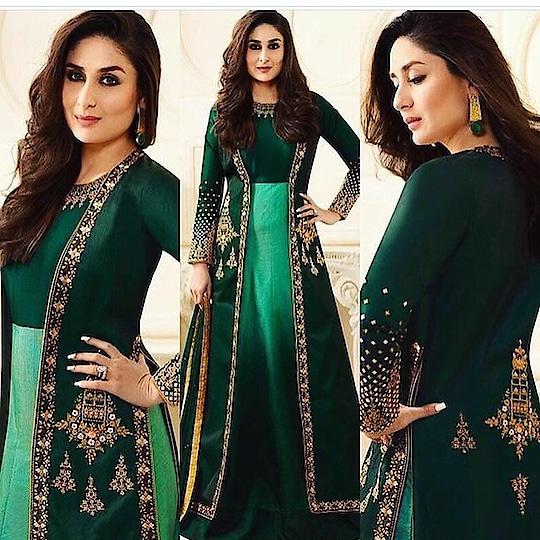 Kareena Kapoor Khan Coat Style Green Anarkali Suit Product code - FCSS1262 Available at www.fashionclozet.com  Watsapp - +91 9930777376 Email -  info@fashionclozet.com Or DM for enquiries. #kareenakapoorkhan #indianfashion #indianwedding #kareenakapoor #adorable #beautiful #bollywood #palazzo #mumbai #palazzosuits #desi #punjabisuits #indowestern #bridalsarees #designersaree #designerwear #saree #punjabiweddings  ##gottapatti #blogger #fashionblogger #embroidery #dressmaterial #weddingphotographer #indianweddingbuzz #bridallehengas  #bridesmaids  #saree #sari