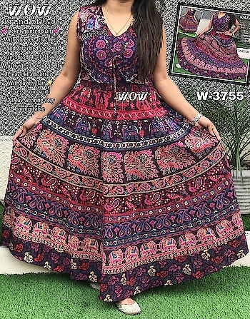 Wow® 💞With Attached jacket Jaipuri print kurti/Dress💞 With sleeves attached  N jacket attached✔ Dori is attached with jacket  Fabric khadi cotton (very lovely) Size 36 38 40 42(free) Waist up-to 40  (with back side belt)  Full flairs Very comfortable use as one PC dress or kurti😍  Price 750/+$ (Inclusive of gst) S 9501023209