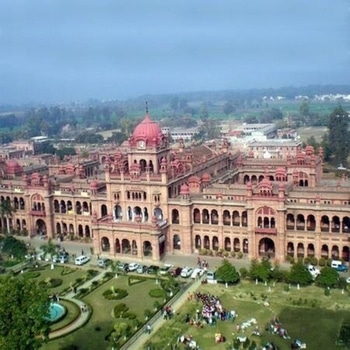 Aerial View of Khalsa College in Amritsar 🙌🏻 #amritsar #khalsacollegeamritsar