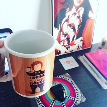 Blogger Life 👩🏻‍💻☕️  . . . . P.S- Mug, Coaster, Canvas frame & Mouse Pad from @postergully  . . . #poojasingla1 #iamshivalisingla #onlineshoppingsite #postergully #mug #coaster #frame #canvasart #canvasprint #explore #workdesk #eow #entrepreneur #exploreourway #potd #blogger #blog #bloggerlife #blogmint #influencer #influenster #lifestyle #work