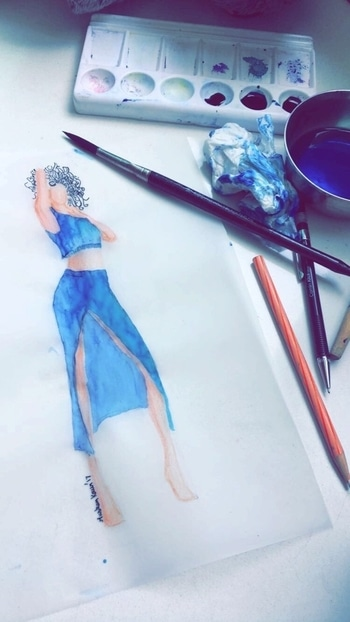 fashion illustration #ffdesignerhunt #designer-wear #new-style