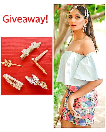 GIVEAWAY time for my followers! 3 hairclips each to 2 winners♥️See my instagram profile for more info: mahhimakottary