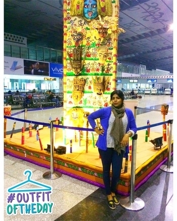 #tbt at #kolkata airport.  The airport look 😃😃 Loved the creations inside. This airport does not have not much to offer and if it's a layover you need a good company to keep yourself from getting bored. I had one of the books from the Mehlua series, which was great. . . . . . . . . . . . . . . . . . . . . #traveldiaries #easystyle #everydaystyle #fashionblogger #fashionandbeauty #styleblogger #styles #stylist #stylediaries #travelgram #instatravel #instafashion #instastyle #indianyoutuber #indiangirl #ilovetravel #airportfashion #airportstyle #koovs #zara #kolkatadiaries #lookoftheday #whatiwore #ootdfash #streetstyle #strongnotskinny #veromodaindia #outfitoftheday