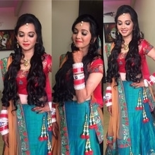 Sangeet makeup for Prachi. Makeup and hair by Richa Malik's Makeovers. For makeup bookings contact 9891016653 #makeupartist #gurgaonmakeupartist #bestmakeupartist #richamaliksmakeovers #richamakeupartist